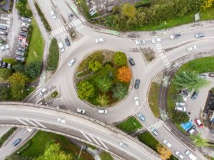 Roundabout in Fort Wayne