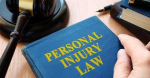 Blue book on the desk of a Roanoke, Indiana personal injury lawyer.