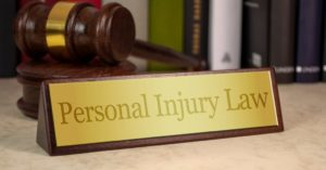 Plate on the desk of a Colombia City Indiana personal injury lawyer.