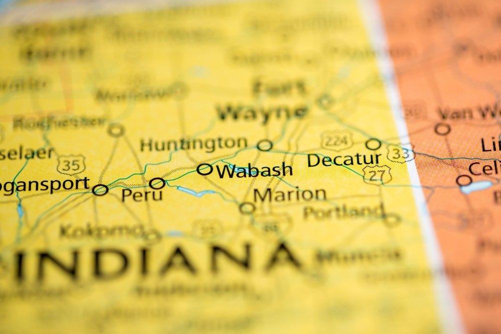 Wabash, Indiana map
