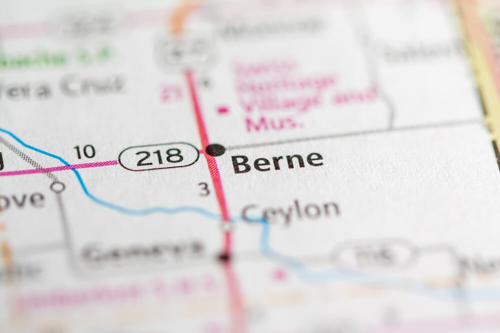 Focus on Berne Indiana map